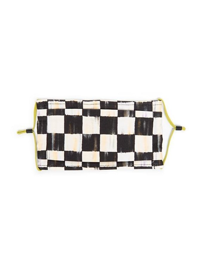 Courtly Check Face Mask- Pleated