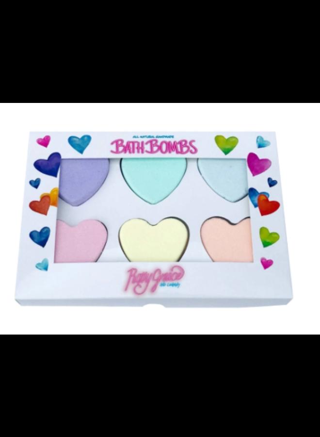 Heart Bath Bombs Gift Box