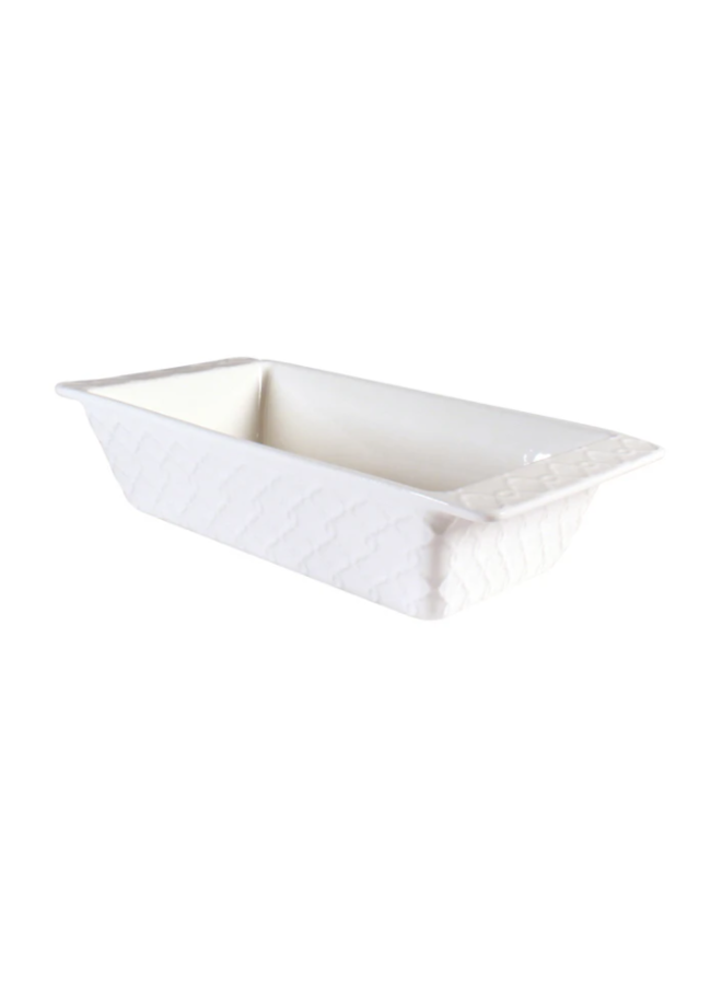 Textured Loaf Pan - White