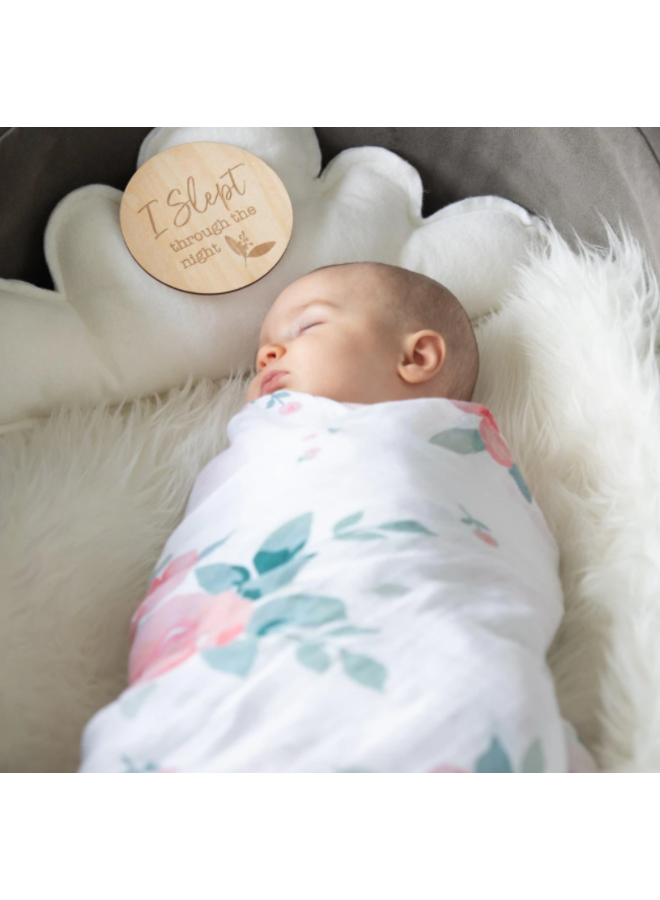Rosy Oh-So-Soft Muslin Swaddle