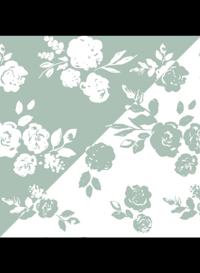 VIntage & Modern Floral Swaddle Blanket Set