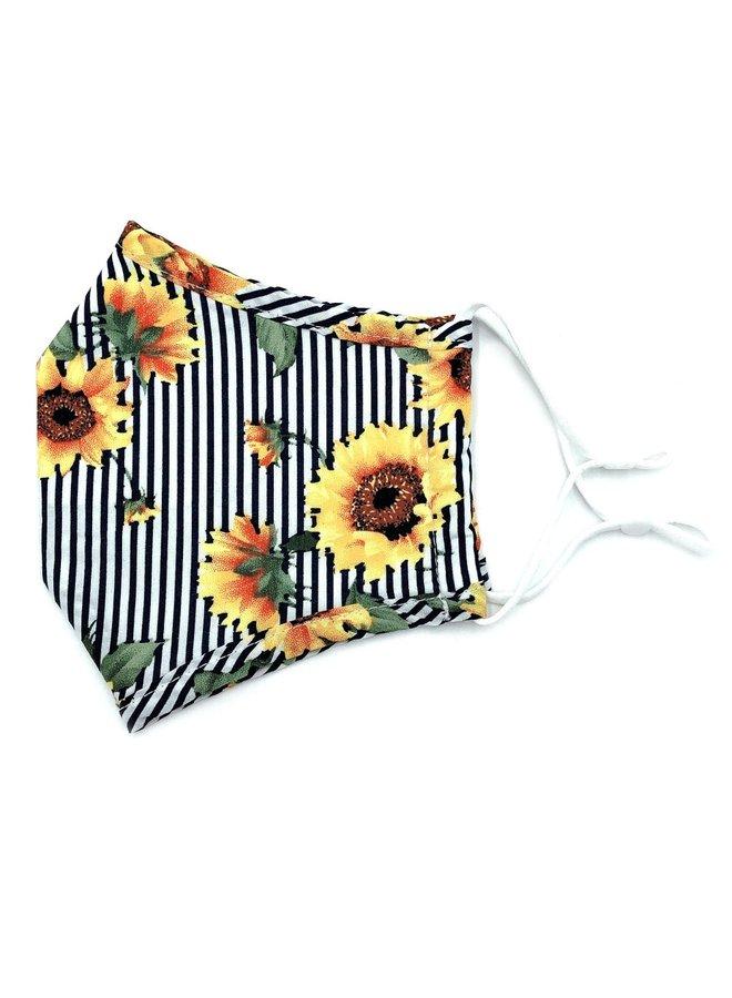 Fashion Mask Striped Floral