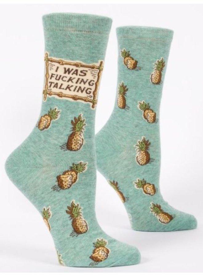 Women's Socks- I Was F*ing Talking