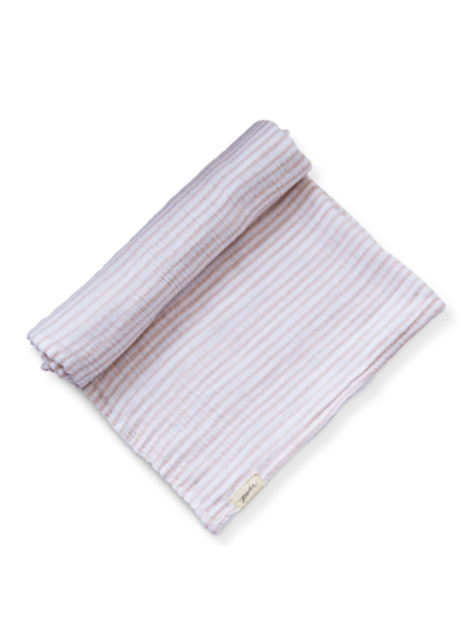 Striped Swaddles - Stripes Away Petal