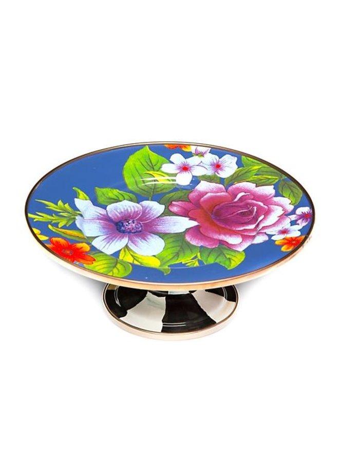 Flower Market Mini Pedestal Platter- Lapis