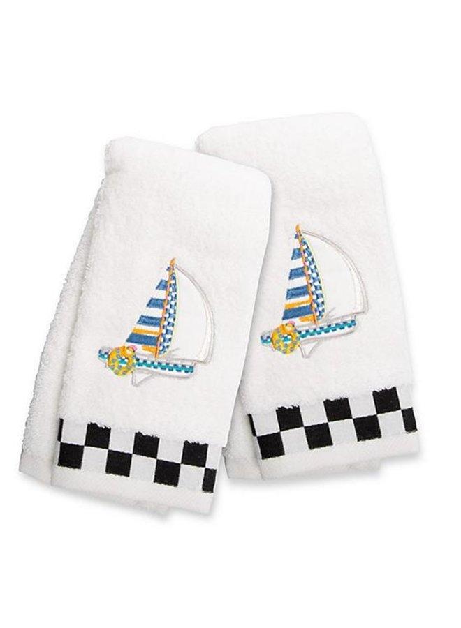Sail Away Fingertip Towels- Set of 2