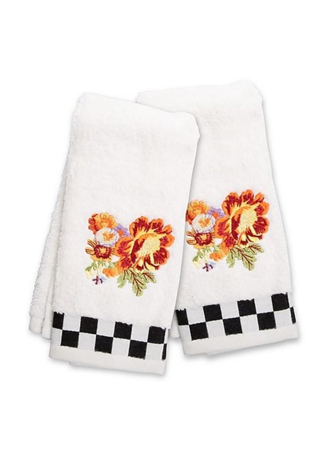 Peony Fingertip Towels- Set of 2
