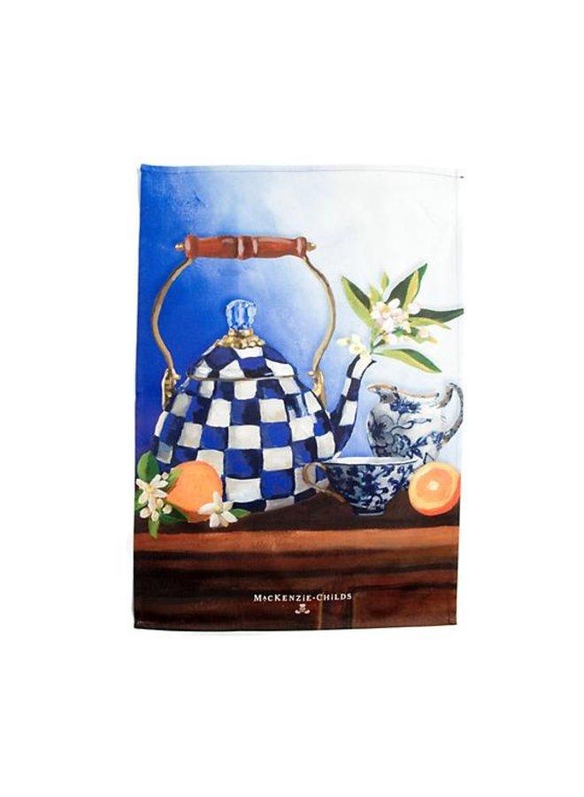 Royal Check Still Life Dish Towel- Tea Kettle