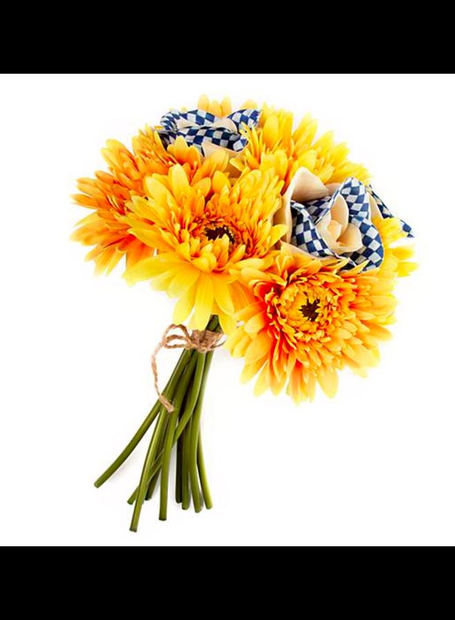 Royal Check Bouquet- Yellow