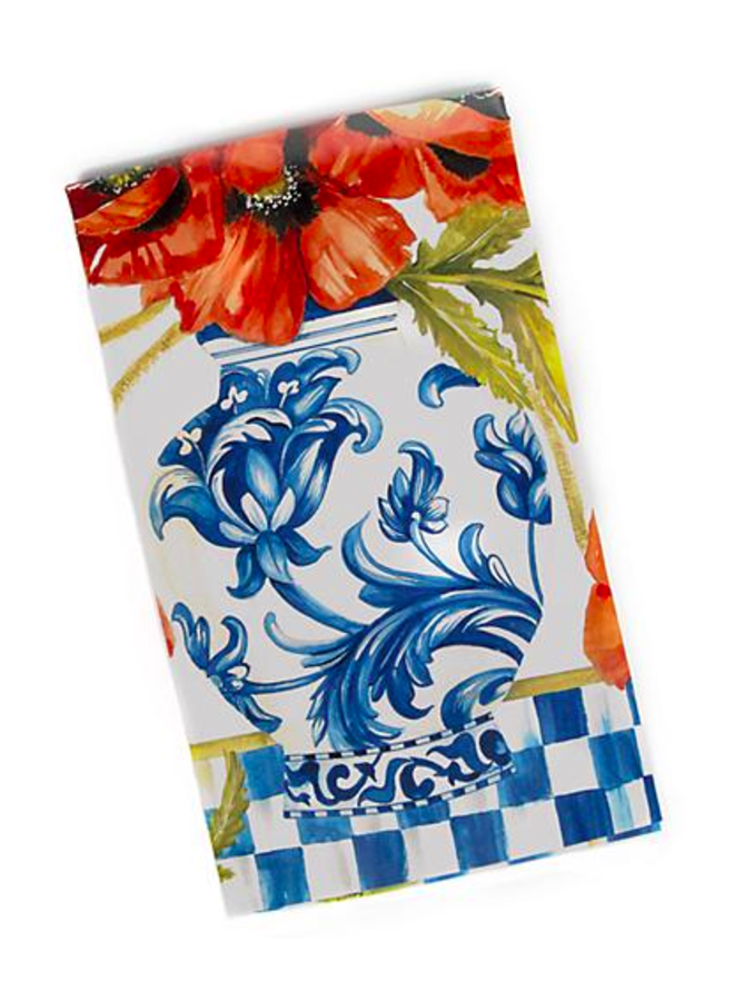 Ming Poppies Paper Napkins- Guest