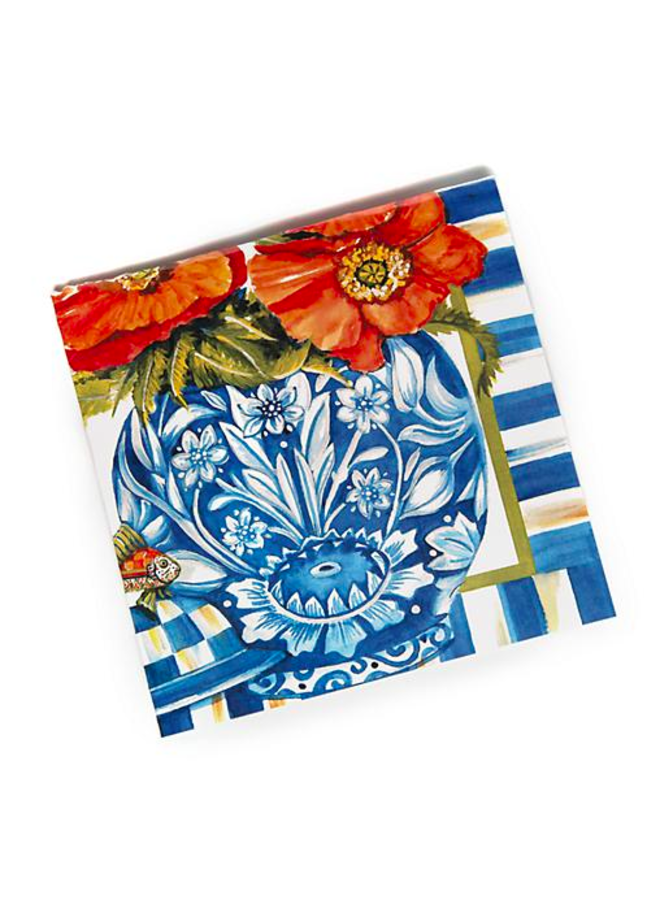 Ming Poppies Paper Napkins- Cocktail