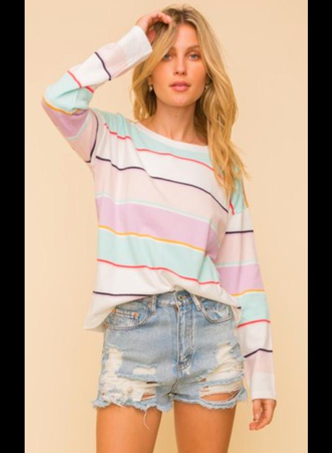 Mulit Color Rose Pullover