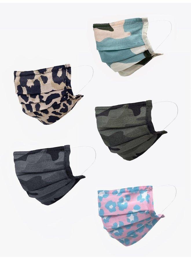 Tie Dye Leo Camo 5 pack Masks