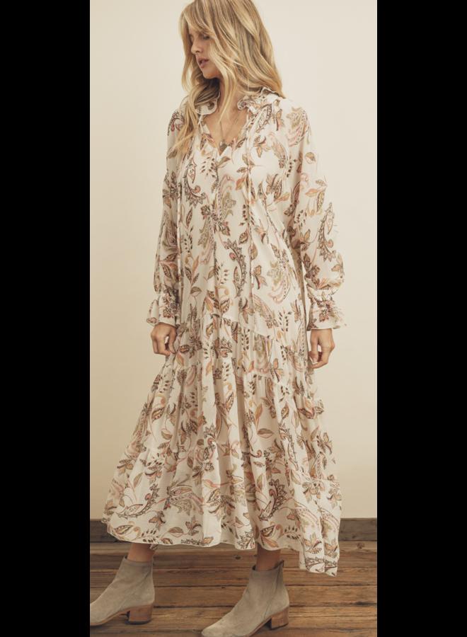 Paisley Power Midi Dress