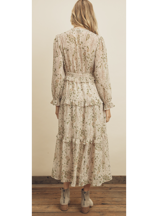 Floral Tiered Ruffle Midi Dress