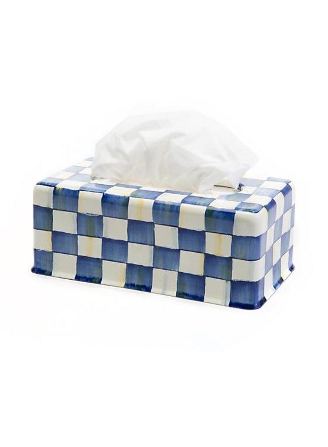 Royal Check Enamel Standard Tissue Box Cover