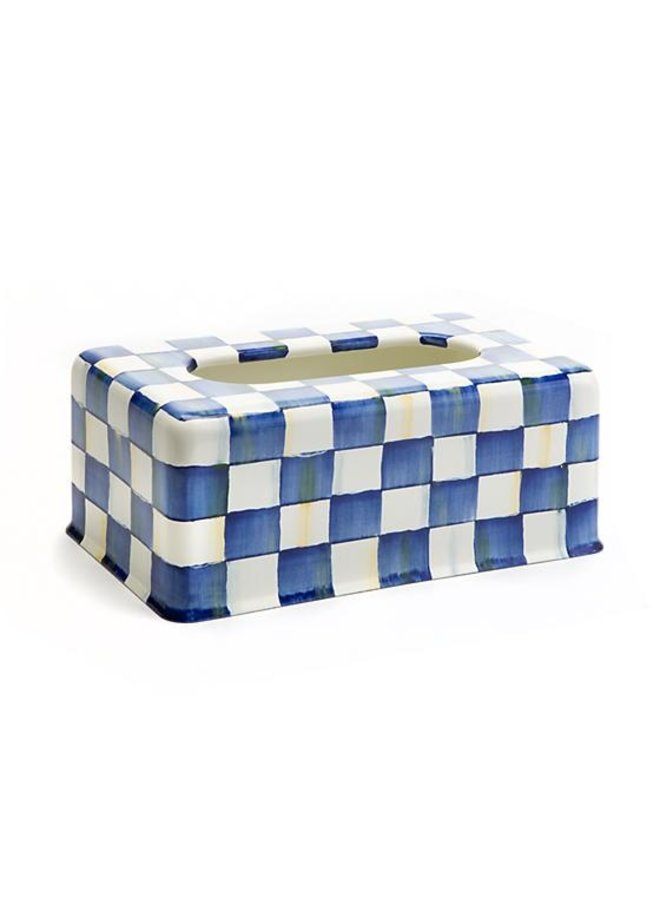 Royal Check Enamel Standard Tissue Box Cover