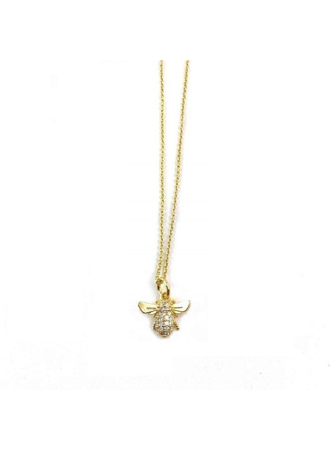 Frankie Gold Necklace- Honey Bee