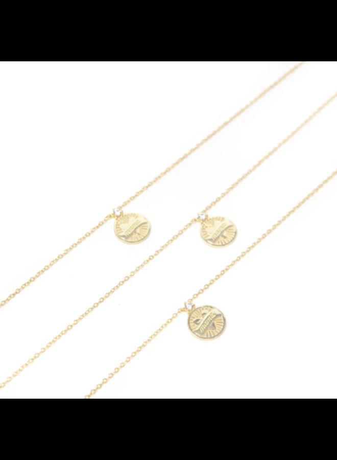Mama Gold Coin Pendant