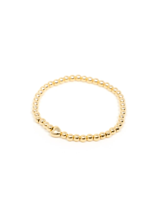 Tiny Heart Gold Stretch Bracelet