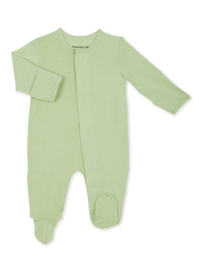Pastel Green Solid Magnetic Footie