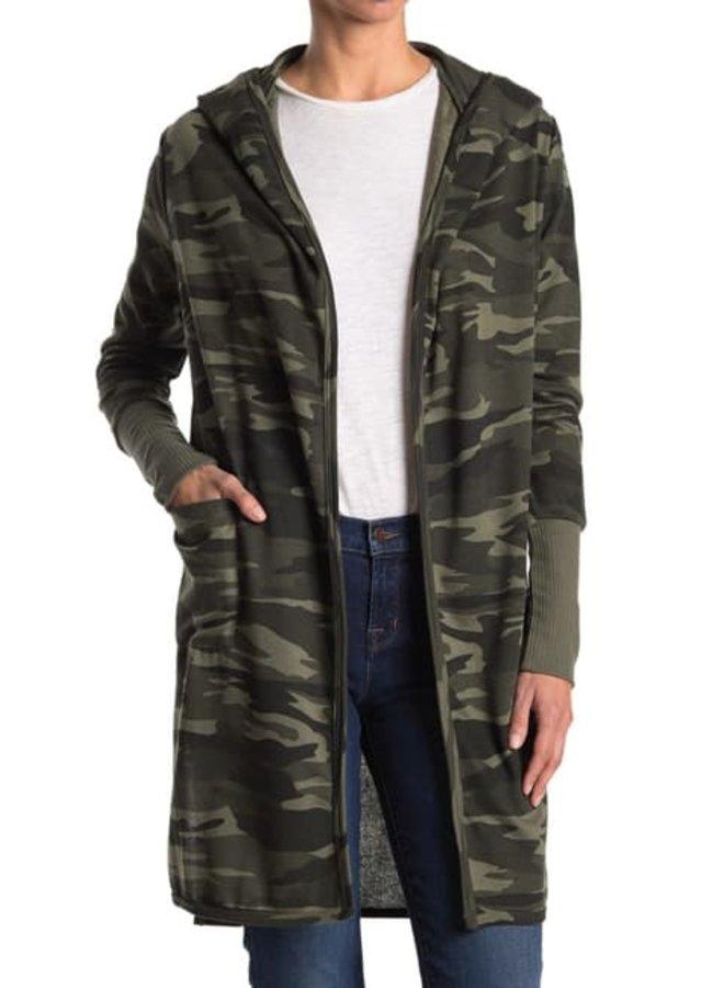 Hooded Open Cardigan