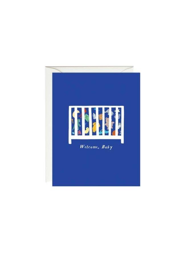 Toy Crib Baby Card