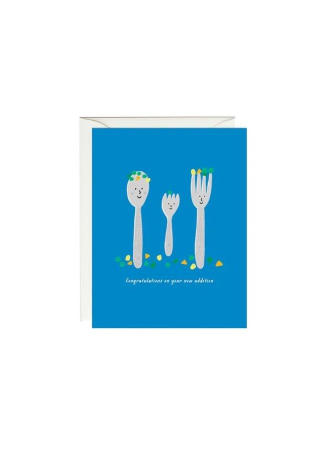 Family Setting Baby Card