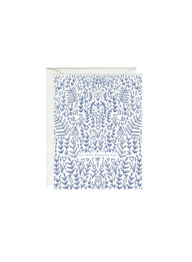 Blue Dove Wedding Card