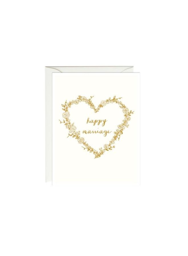 Happy Marriage Gold Foil Card