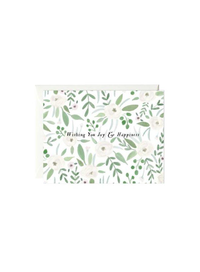 Joy & Happiness Wedding Card
