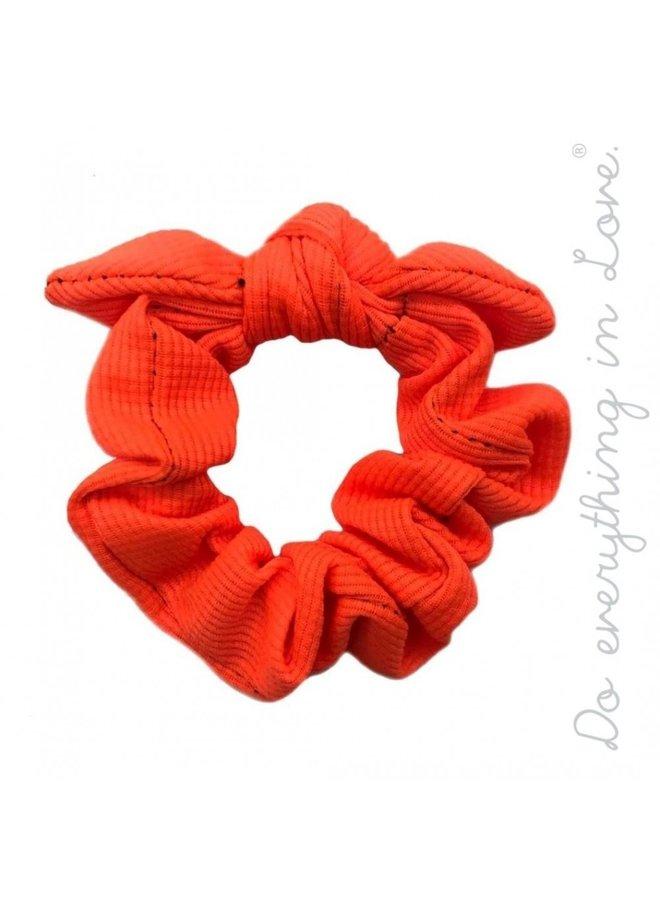 Orange Bow Scrunchie