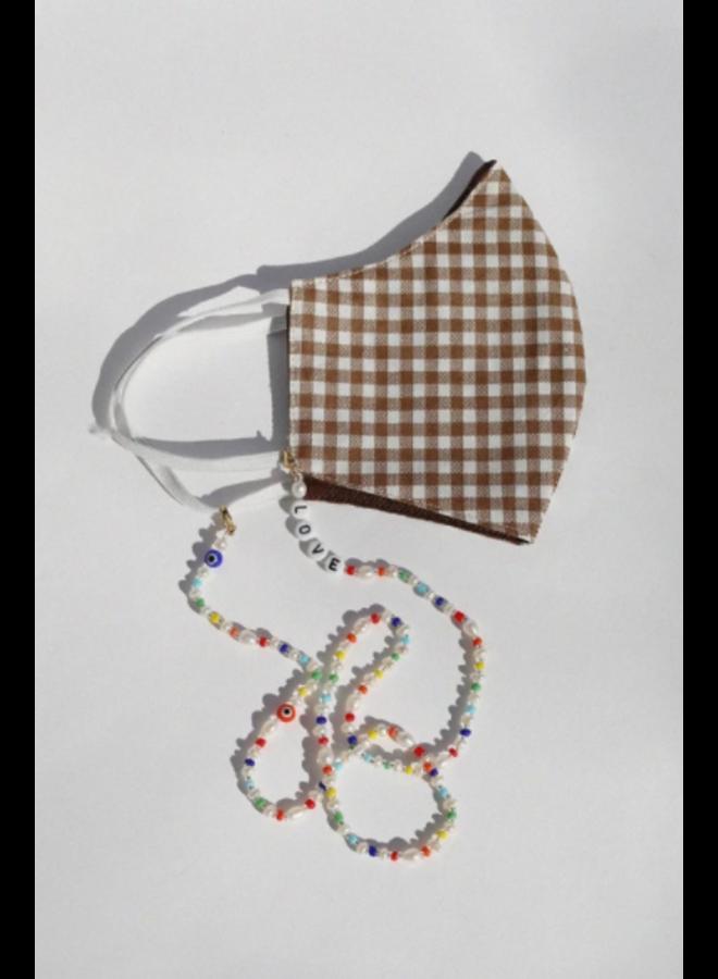 Love + Pearl Mask Chain
