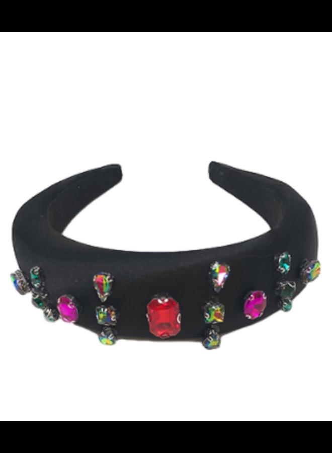Jeweled Black Headband