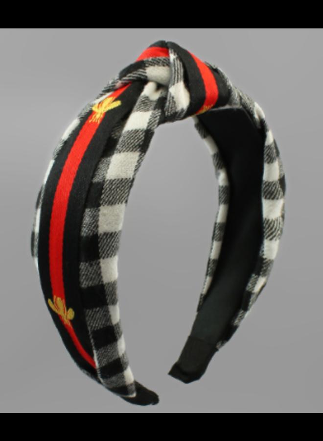 Bee & Buffalo Plaid Headband