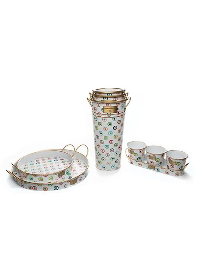 Lunares Herb Pots with Tray- Set of 3