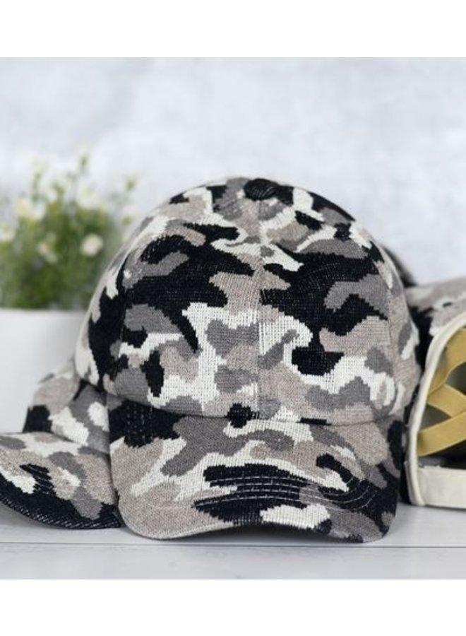 Black Camo Hat