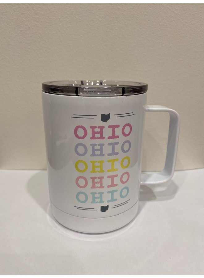 Ohio Colorful Travel Cup
