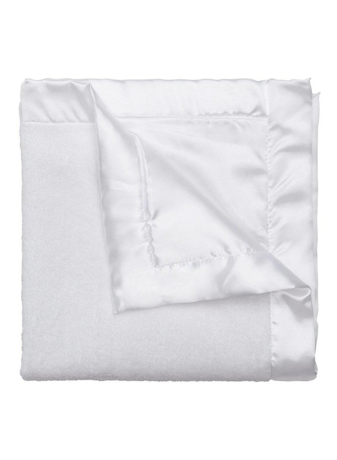 Coral Fleece Blankie-White