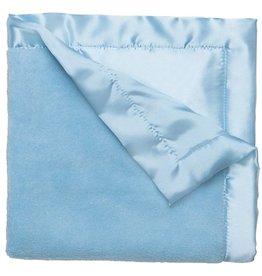 Elegant Baby Coral Fleece Blankie-Pastel Blue
