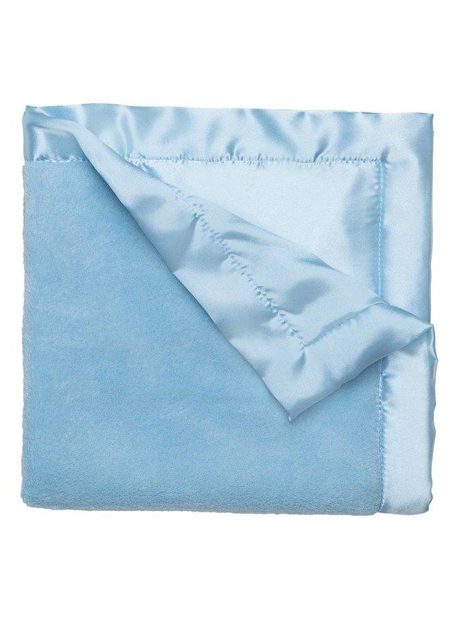 Coral Fleece Blankie-Pastel Blue
