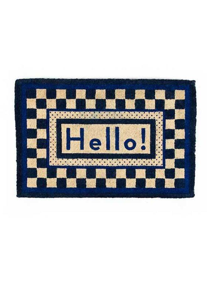 Hello Entrance Mat - Royal