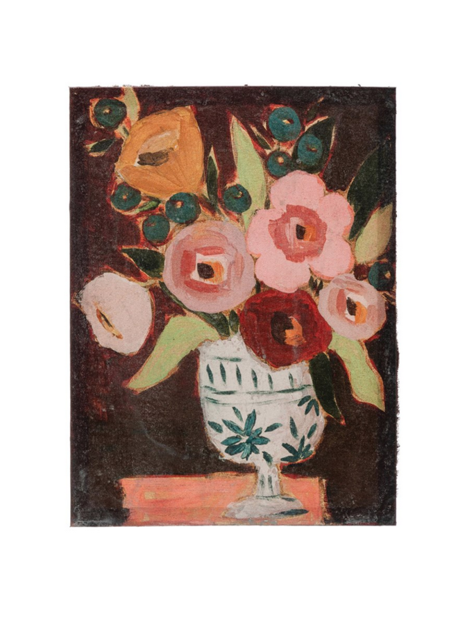 "18"" Dark Floral Canvas Wall Art"