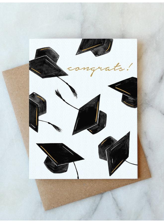 Grad Hats Congrats Card
