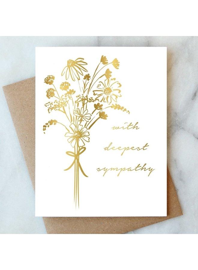 Bouquet Sympathy Card