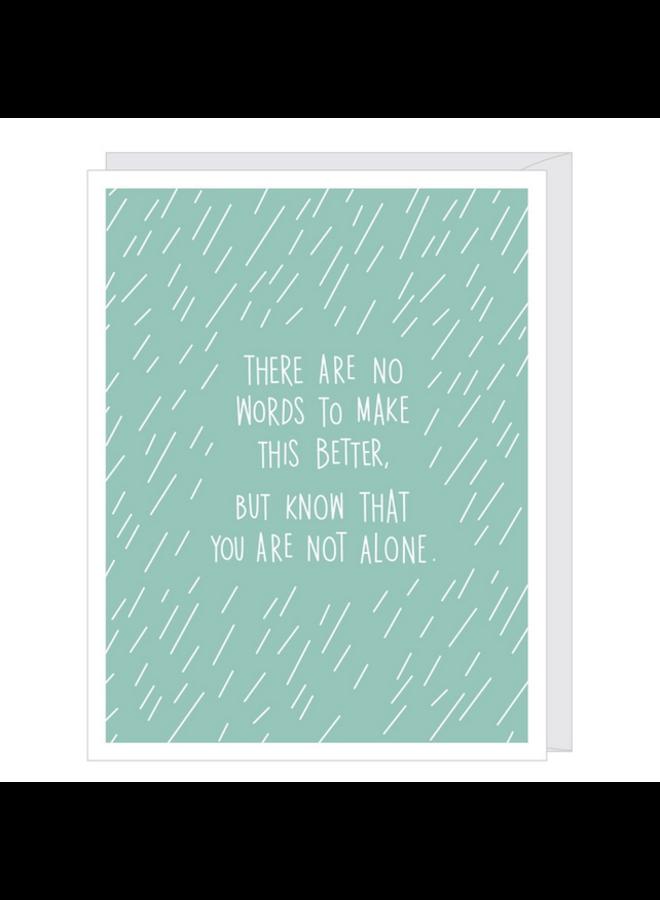 Falling Rain Sympathy/Support Card