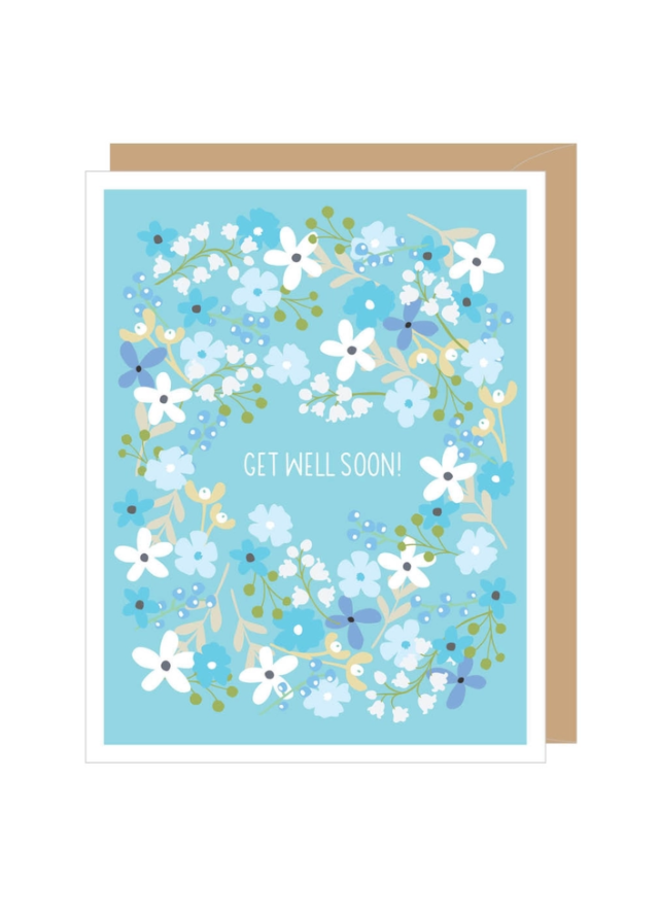 Floral Get Well Greeted Card