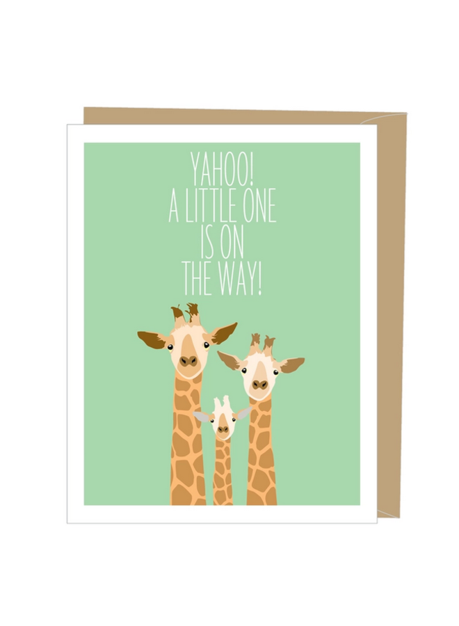 Giraffes Greeted New Baby Card