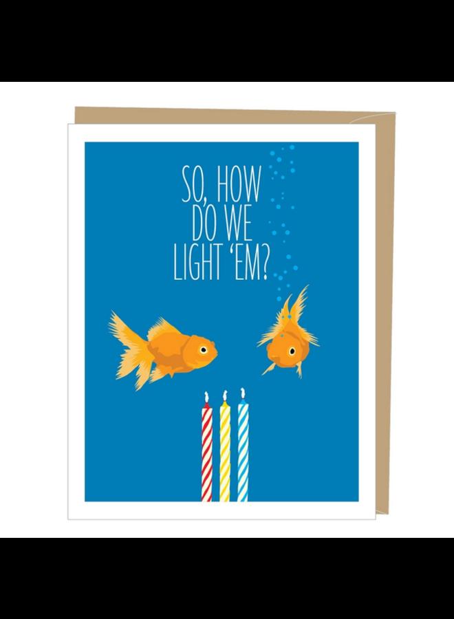 Goldfish Greeted Birthday Card