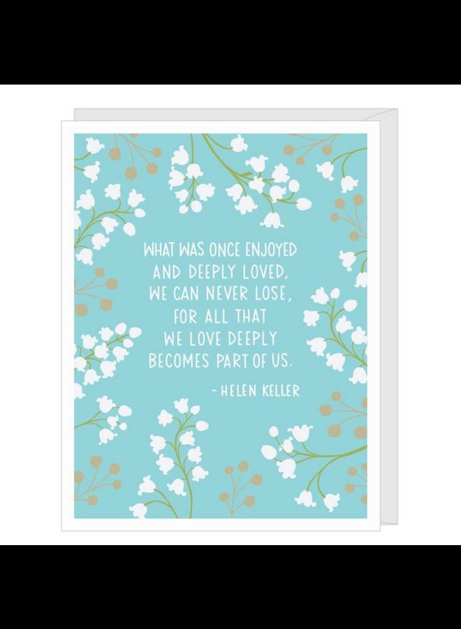 Helen Keller Sympathy Card